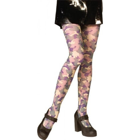 Khaki Camouflage tights - army - pantyhose  green - one size
