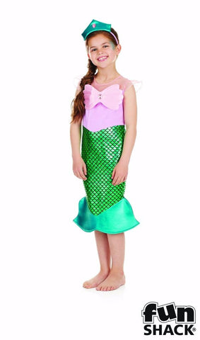 Mermaid Girls Fancy Dress  Ariel World book day  Medium - Age 6-8