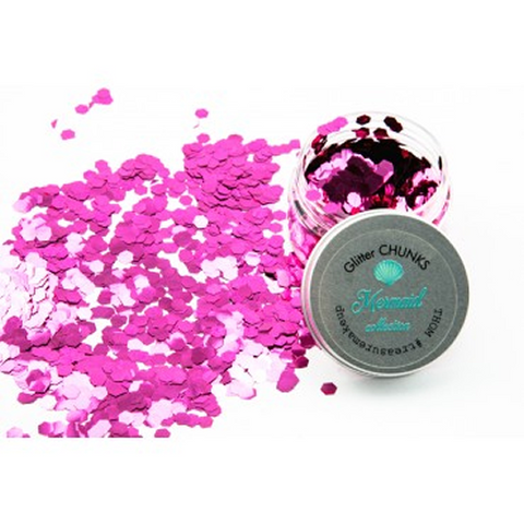 Chunky Glitter ~ Mermaid Collection  ~ 14 ~ Coralina Pink ~ Face Body Hair ~ Festival