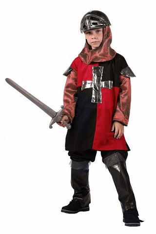 Medieval Knight Costume Red and Black 104 cm Age 5 - 6 St George Arthur