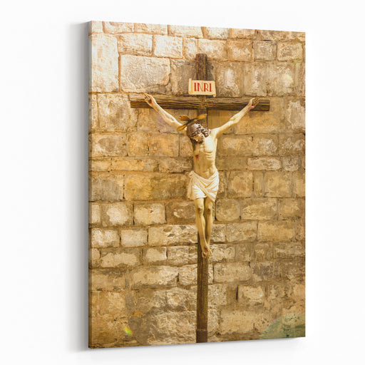Jesus Christ Statue Jesus Of Nazareth Is A First Century Jewish Preacher And Religious Leader, Central Figure Of Christianity Canvas Wall Art Print