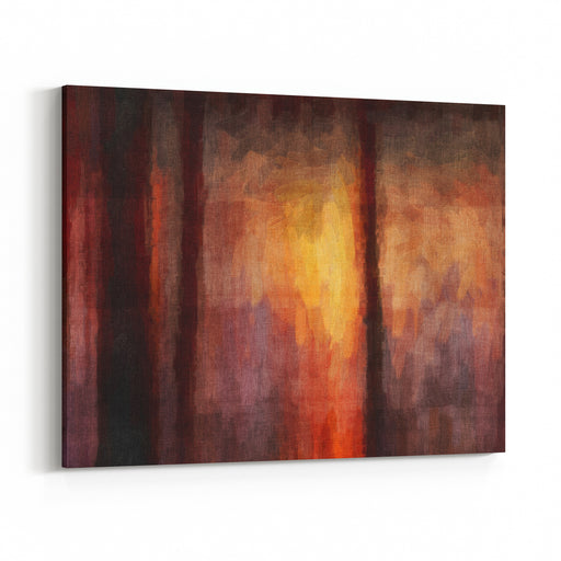 Digital Structure Of Painting Abstract Art Vintage Background Canvas Wall Art Print