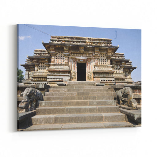 The Chennakeshava Temple Built In  AD By The Hoysalas At Belur, Karnataka, India Canvas Wall Art Print