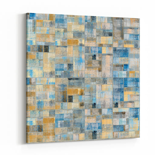 Abstract Painting Wall Tiles Mosaic Ceramic Canvas Wall Art Print