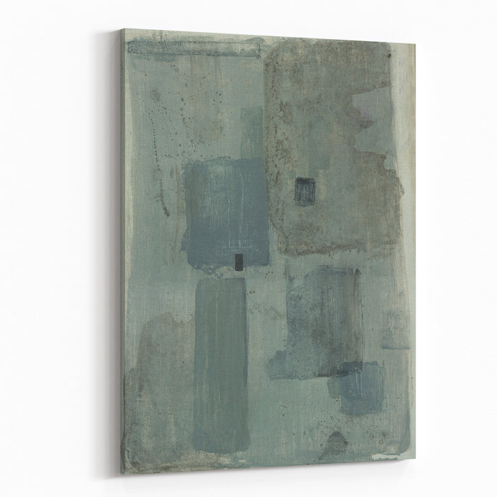 Abstraction, Which Consists Of Patches Of Color, Painted With Acrylic Canvas Wall Art Print