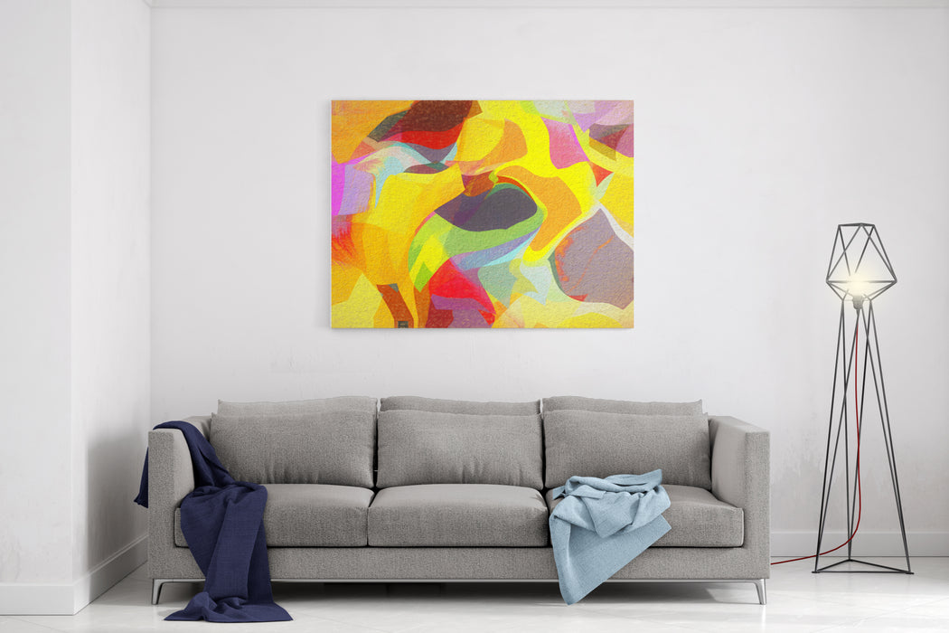 Abstract Shapes Digital Painting Stylization Canvas Wall Art Print