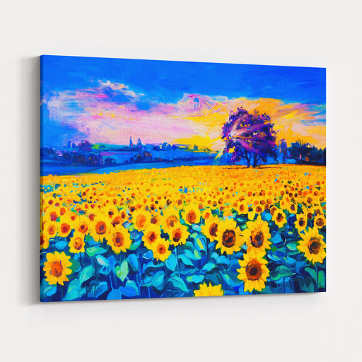 Original Oil Painting Of Sunflowers On CanvasModern Impressionism Canvas Wall Art Print