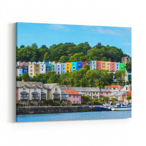 Bristol Cityscape, Natural Colours Canvas Wall Art Print