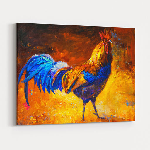 Oil Painting On Canvascolorful Roostermodern Impressionism Canvas Wall Art Print