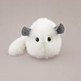 Bianca the white chinchilla stuffed animal plush toy front view.
