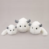 Bianca the white chinchilla stuffed animal plush toy group shot 1.