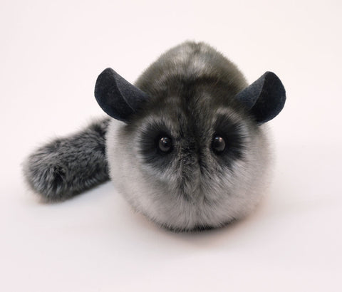 Smokey the Grey Chinchilla Stuffed Animal Plush Toy front view.