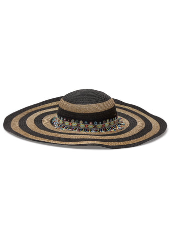 Etro Striped Embellished Hat