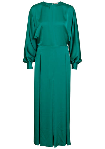 Nina Ricci Green Silk Dress