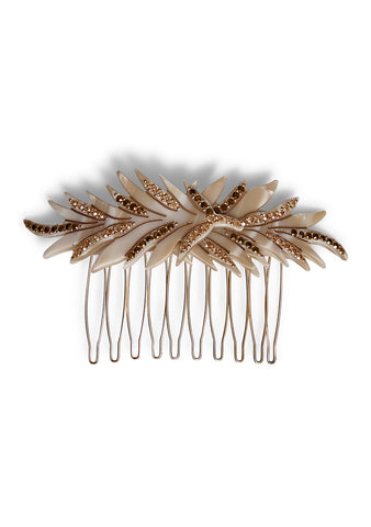 MC Davidian Ivory Feather Hair Comb