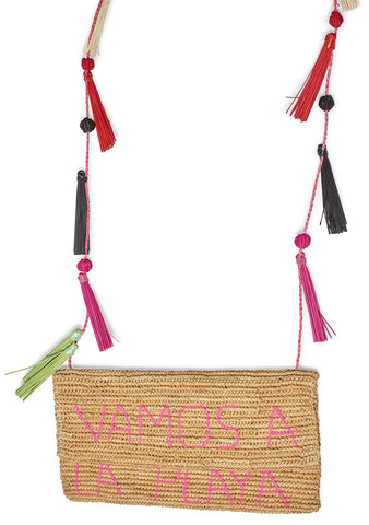 Woven Toquilla Straw Cross Body Bag