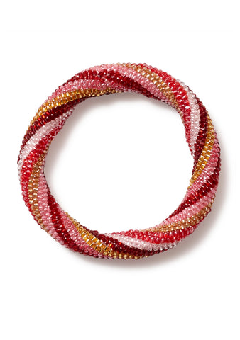 Aprosio & Co. Twisted Gold, Pink & Red Bracelet