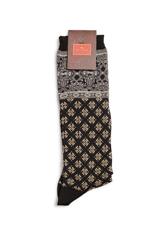 Etro Women Black Paisley Socks