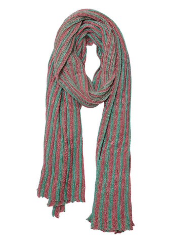 Missoni Striped Crochet Knit Scarf