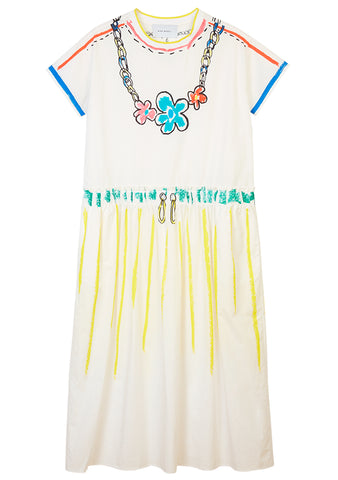 Mira Mikati Trompe L'oeil Scribble T-Shirt Dress