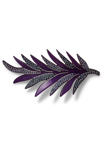 MC Davidian Violet Feather Hair Clip