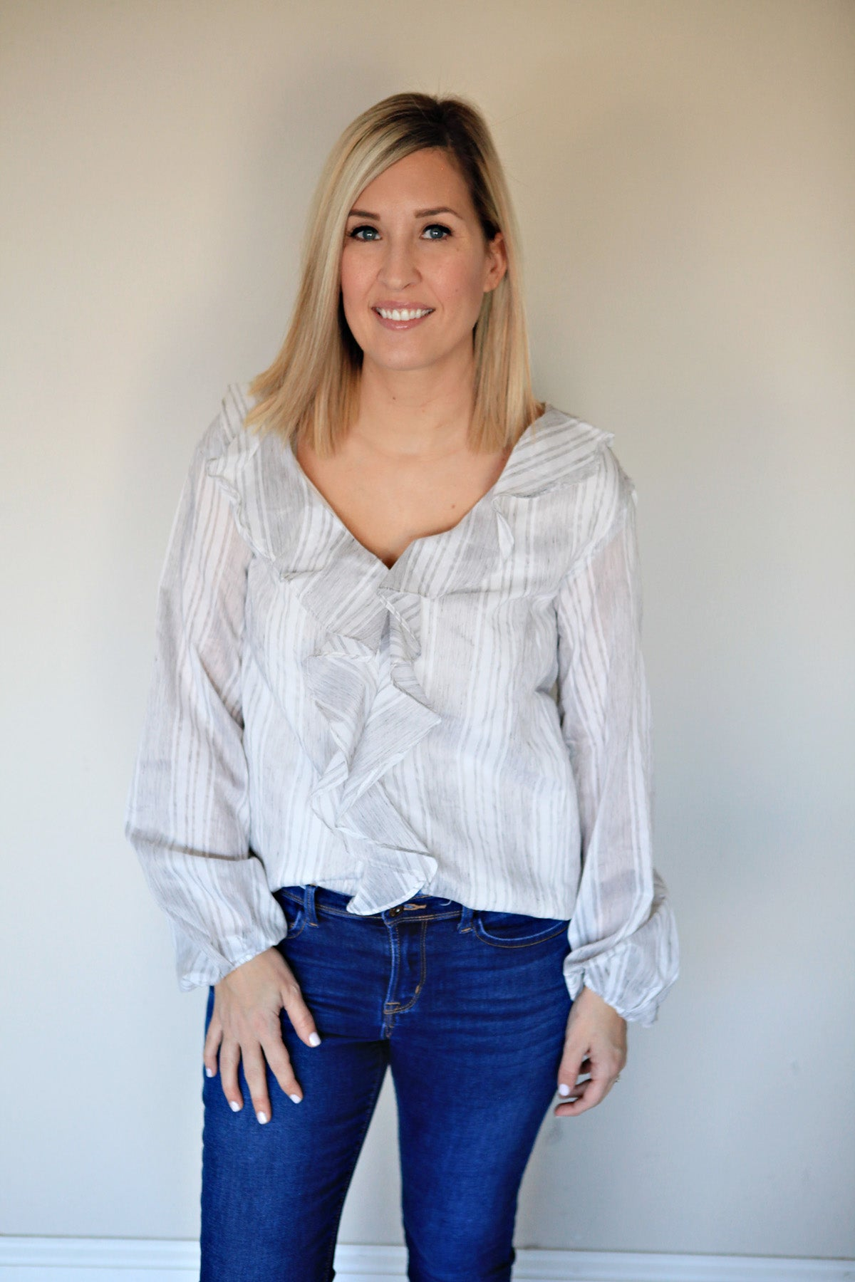 Amelia Top - FINAL SALE - Gray Monroe