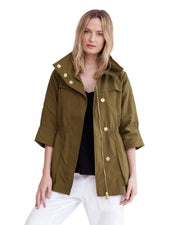 anorak jacket fir green