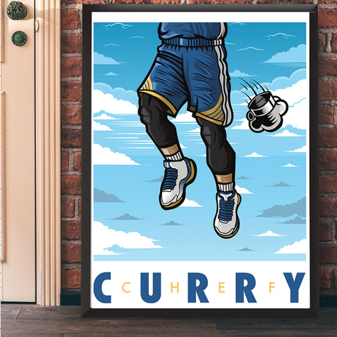 Chef Curry Giclee Art Print 17 x 22