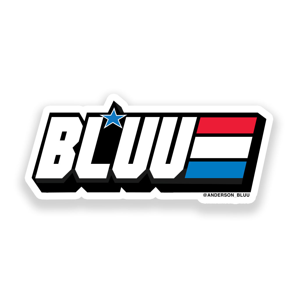 G.I. Bluu 3 x 3 Sticker