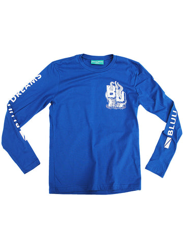 BD Octopus Royal Bluu Long Sleeve T-Shirt