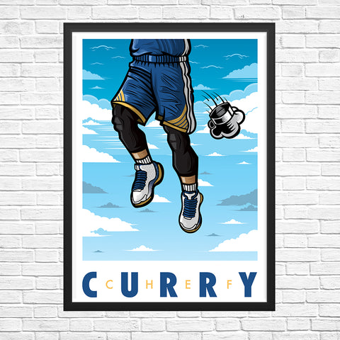 Chef Curry Giclee Art Print 13 x 19