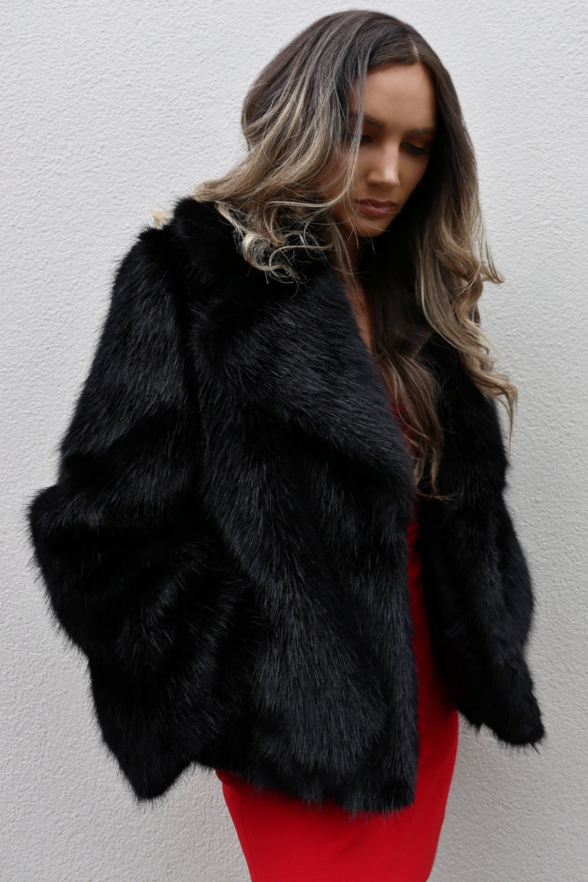 Unreal Fur Madam Butterfly Jacket mve boutique