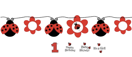Little Ladybug Circle Party Banner