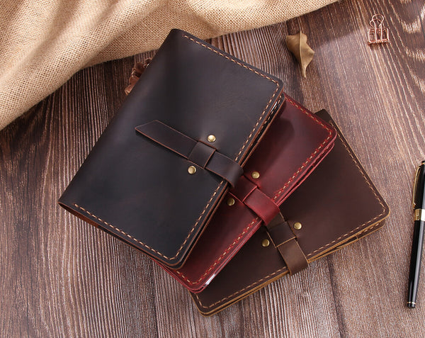 A6 Ring Binder Leather Journal Notebook