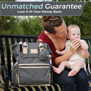Diaper Bag Backpack - Grey Chambray