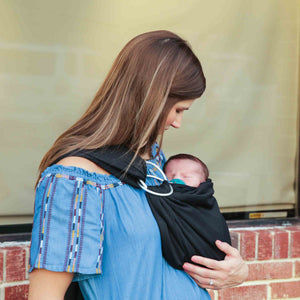 4 in 1 Baby Wrap Carrier and Ring Sling - Black