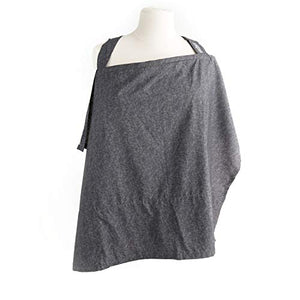 Nursing Cover with Built-in Burp Cloth + FREE Pouch | Chambray