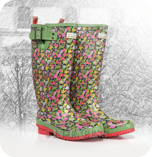 Briers Julie Dodsworth Adjustable Neoprene Lined Wellington Walking Boots