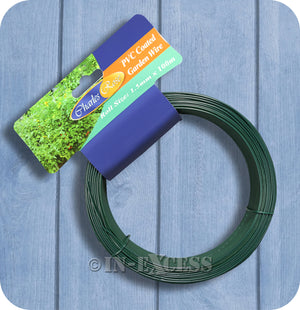 Charles Rose PVC Coated Garden Plant Running Wire 1.5mm - 100 Metres
