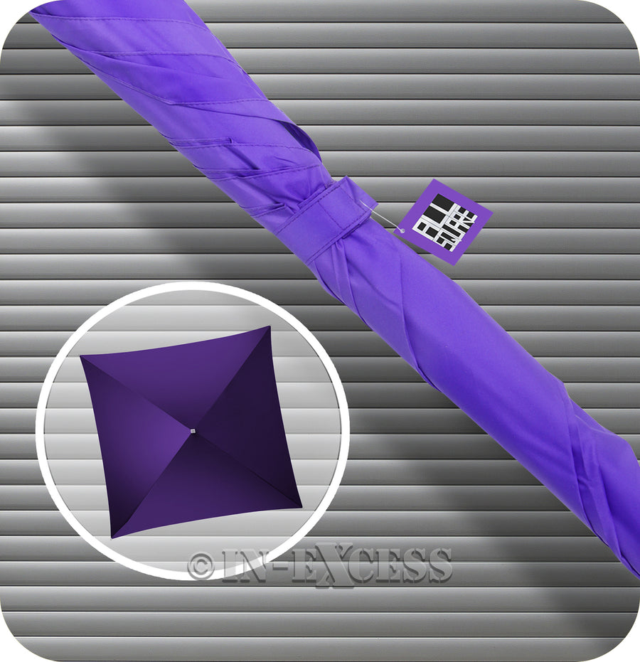 Impliva All Square Golf Square Classic Umbrella - Purple