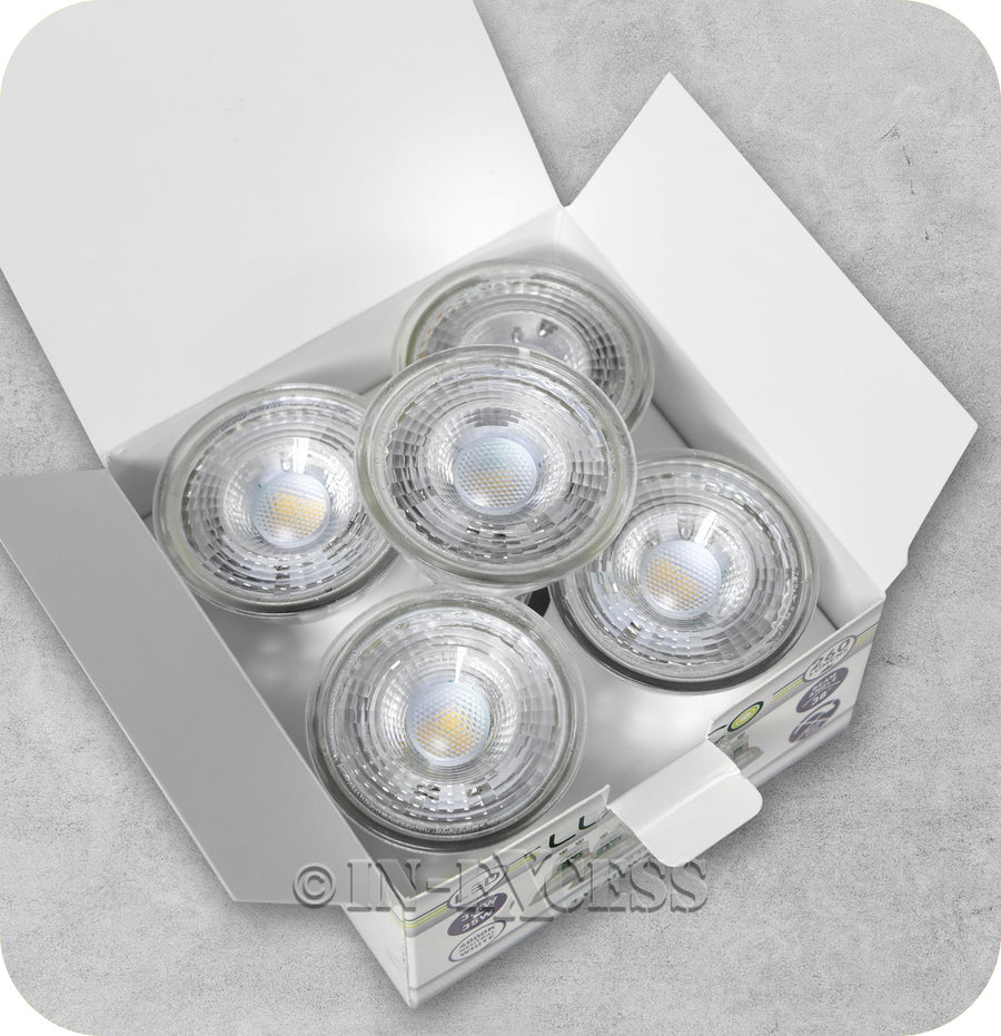 Luceco LED Non-Dimmable Traditional Effect GU10 Bulb - 3.5W~35W (Pack of 5)