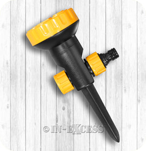 Marshall Aqualean Garden Watering 5-Pattern Ground Spike Sprinkler