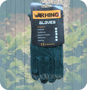 Rhino Skin General Purpose Washable Leather Gardener's Garden Gloves - Medium & Large