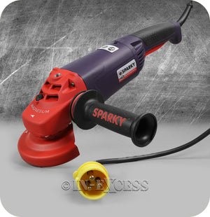 Sparky Professional Tools HD Heavy Duty Long Handled Angle Grinder 1300W - 110V