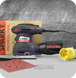 Sparky Professional Tools Orbital Variable Speed 1/4 Sheet Sander MP 250W - 110V