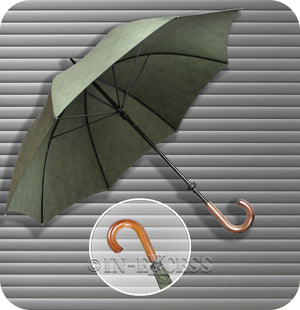 Splash Innovations Crook Handle Classic Umbrella - Khaki