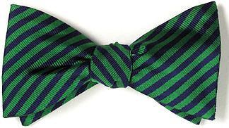bow ties american made green navy stripes
