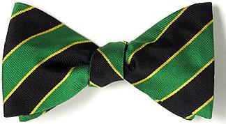 bow ties american made green black stripes