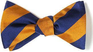 bow ties american made orange blue stripes