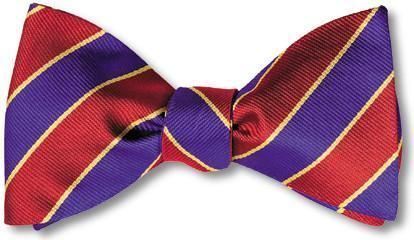 bow ties american made red purple stripes